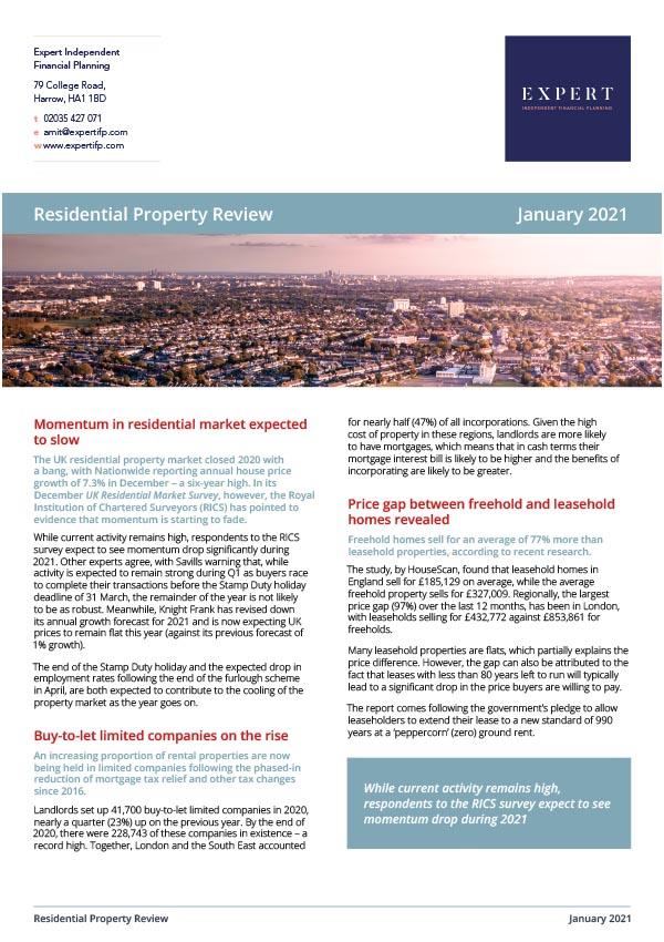 Residential Property Jan '21