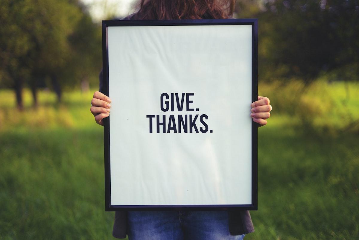 Säg tack och bli en lyckligare människa