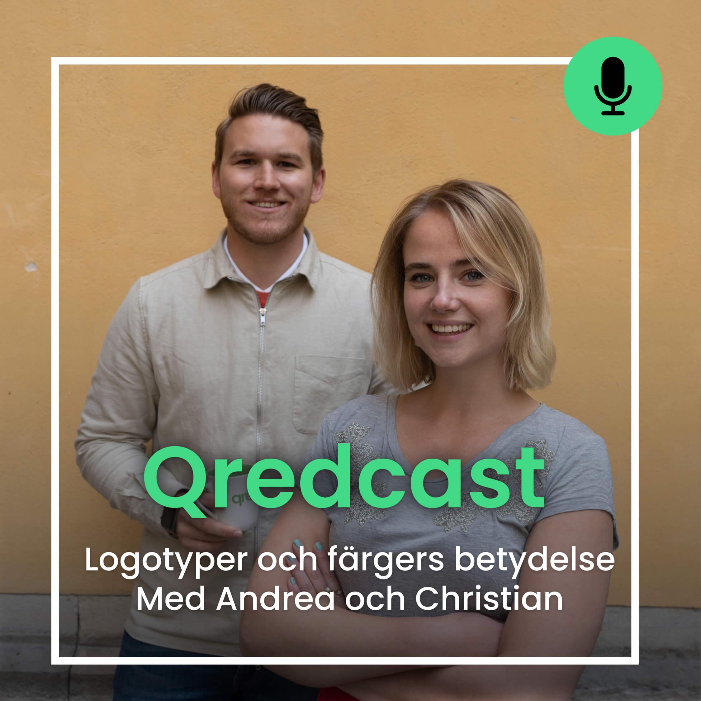 Logotyper och färgers betydelse i Qredcast med Christian och Andrea