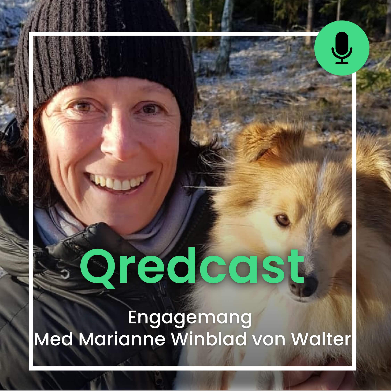 Marianne Winblad von Walter om engagemang i Qredcast