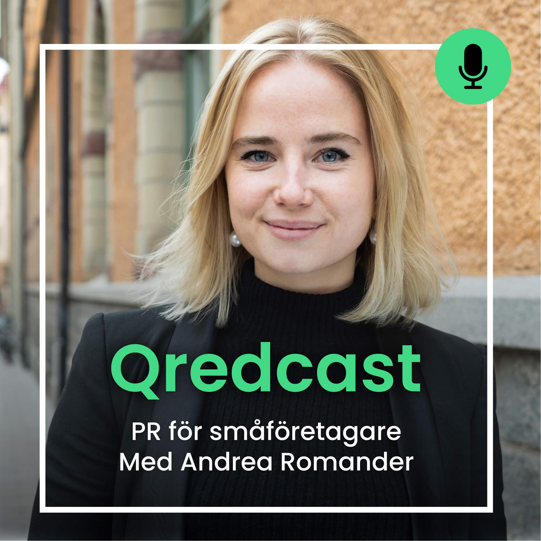 PR med Andrea Romander podcast qredcast