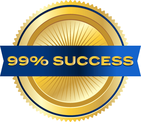 99% success rate badge