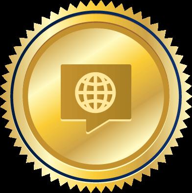 multilingual lawyers badge