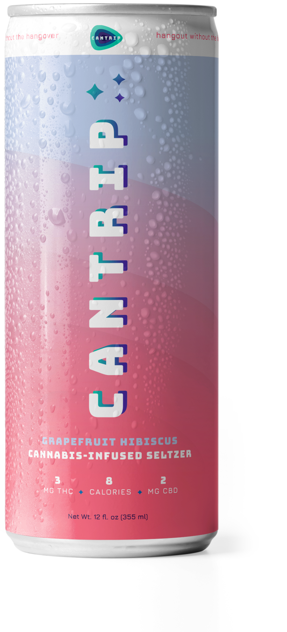 The Cantrip cannabis-infused seltzer Grapefruit Hibiscus can.