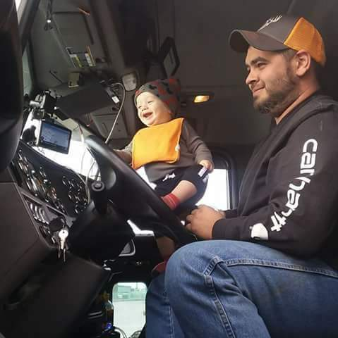 TRUCKING RUNS IN THE FAMILY -- STEELMAN DRIVER AND FATHER OF TWO, TONY CAPRARO
