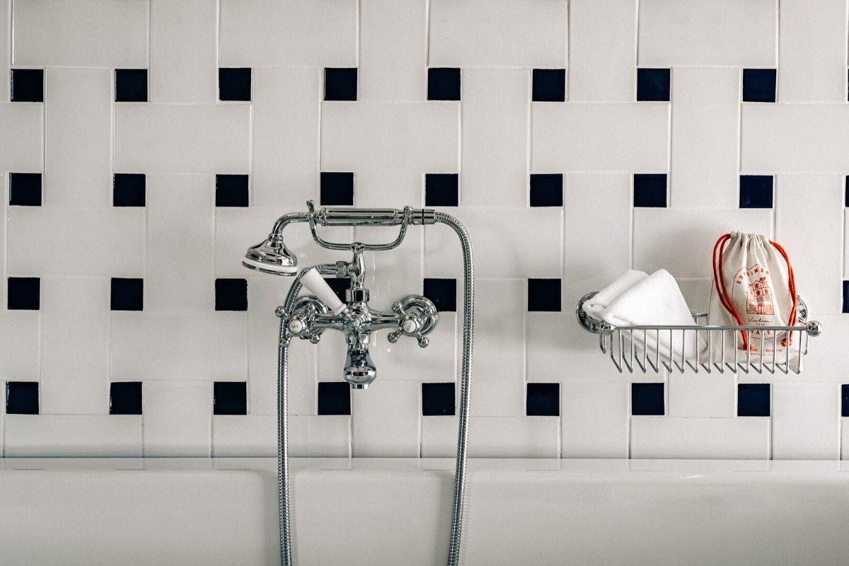Salle de bain Chambre supérieure Chalet expérimental Hôtel Verbier