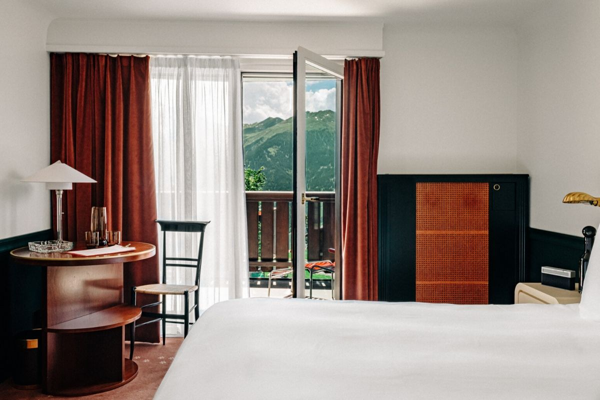 Focus Superior Room Terrace Experimental Chalet Hotel Verbier
