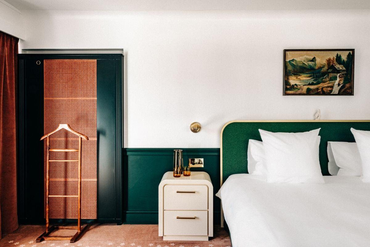 Bed Deluxe Room Experimental Chalet Hotel Verbier