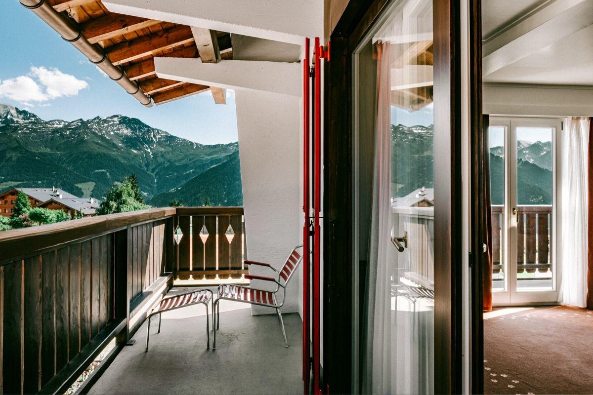 Terrace Deluxe Room Experimental Chalet Hotel Verbier