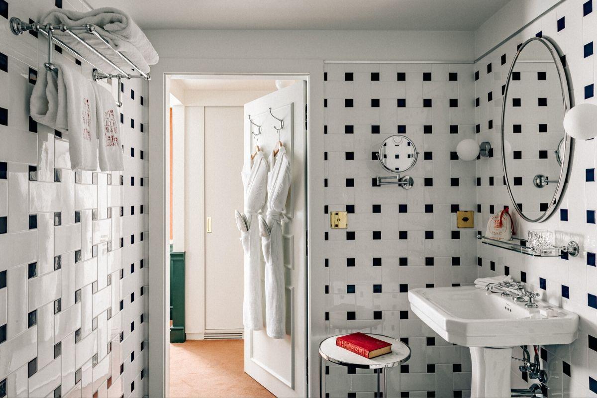 Salle de bains Chalet expérimental Hôtel Verbier