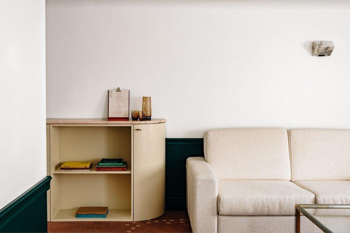 Sofa Junior Suite Experimental Chalet Hotel Verbier