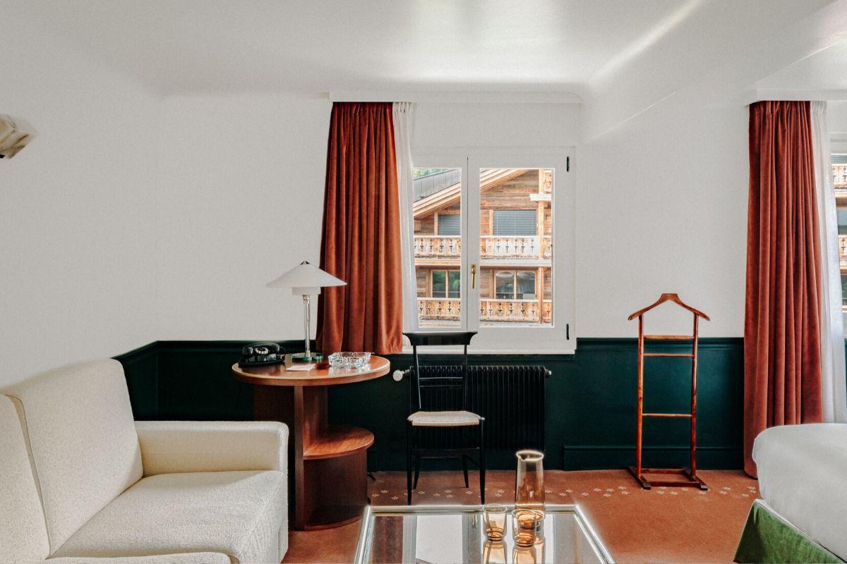 Junior Suite Living Experimental Chalet Hotel Verbier