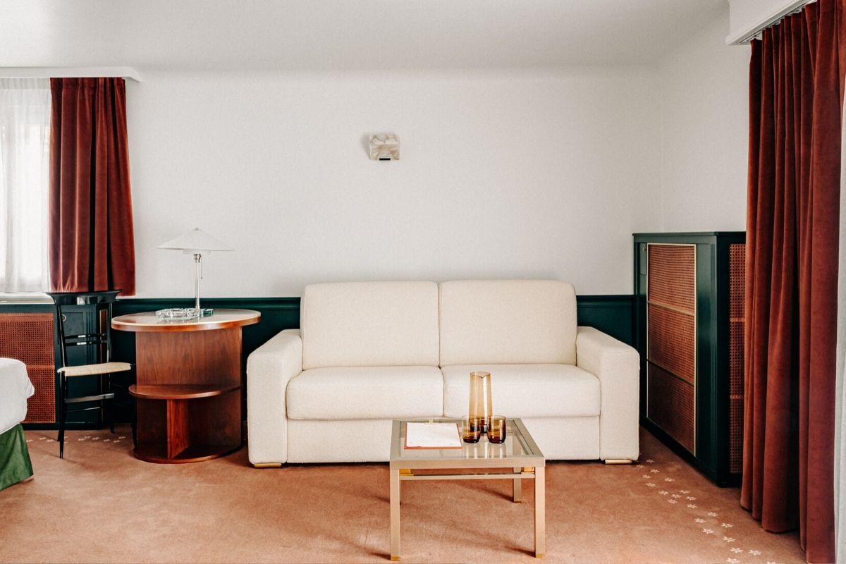 Canapé Chalet expérimental Hôtel Verbier