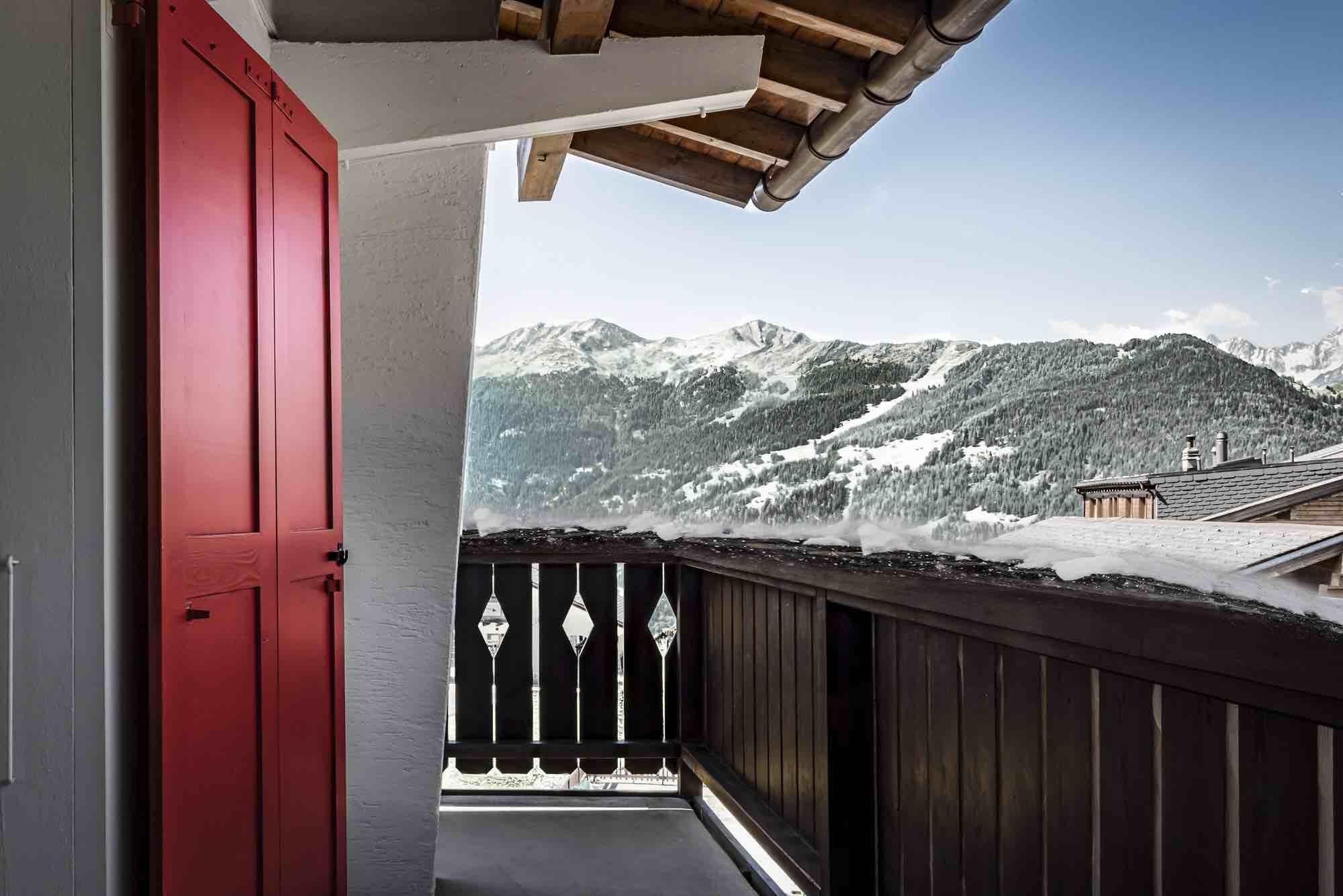 Balcon Neige Hôtel Chalet Expérimental Verbier