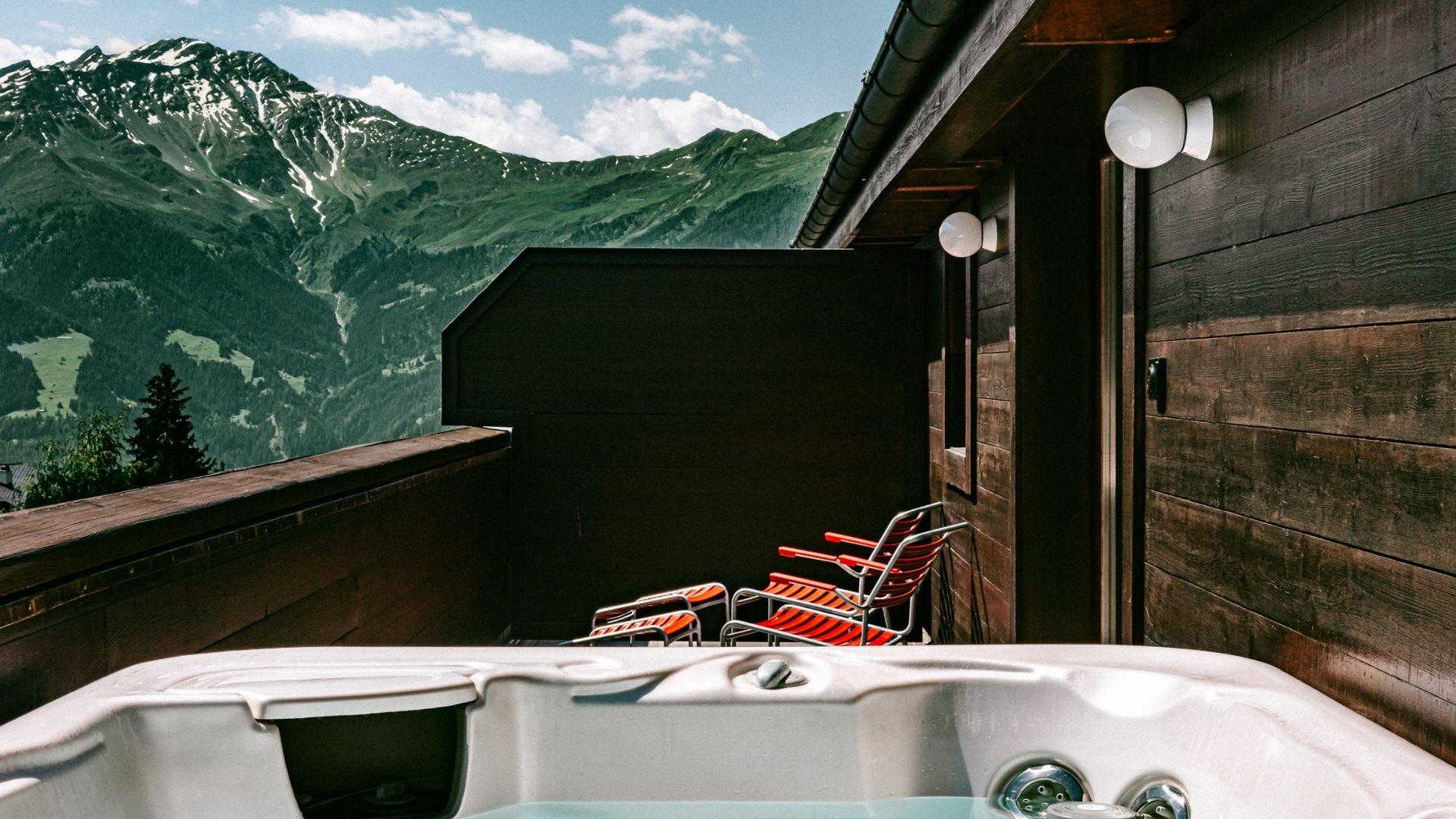 Terrace view Experimental Chalet Hotel Verbier