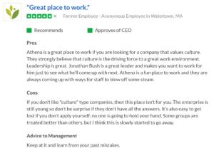 AthenaHealth Glassdoor Review