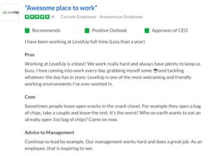 LevelUp Glassdoor Review