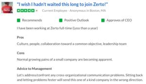 Zerto Glassdoor Review
