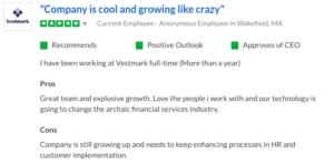 VestMark Glassdoor review