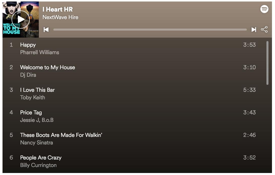 HR Spotify Playlist