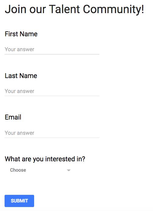 Talent Community Form