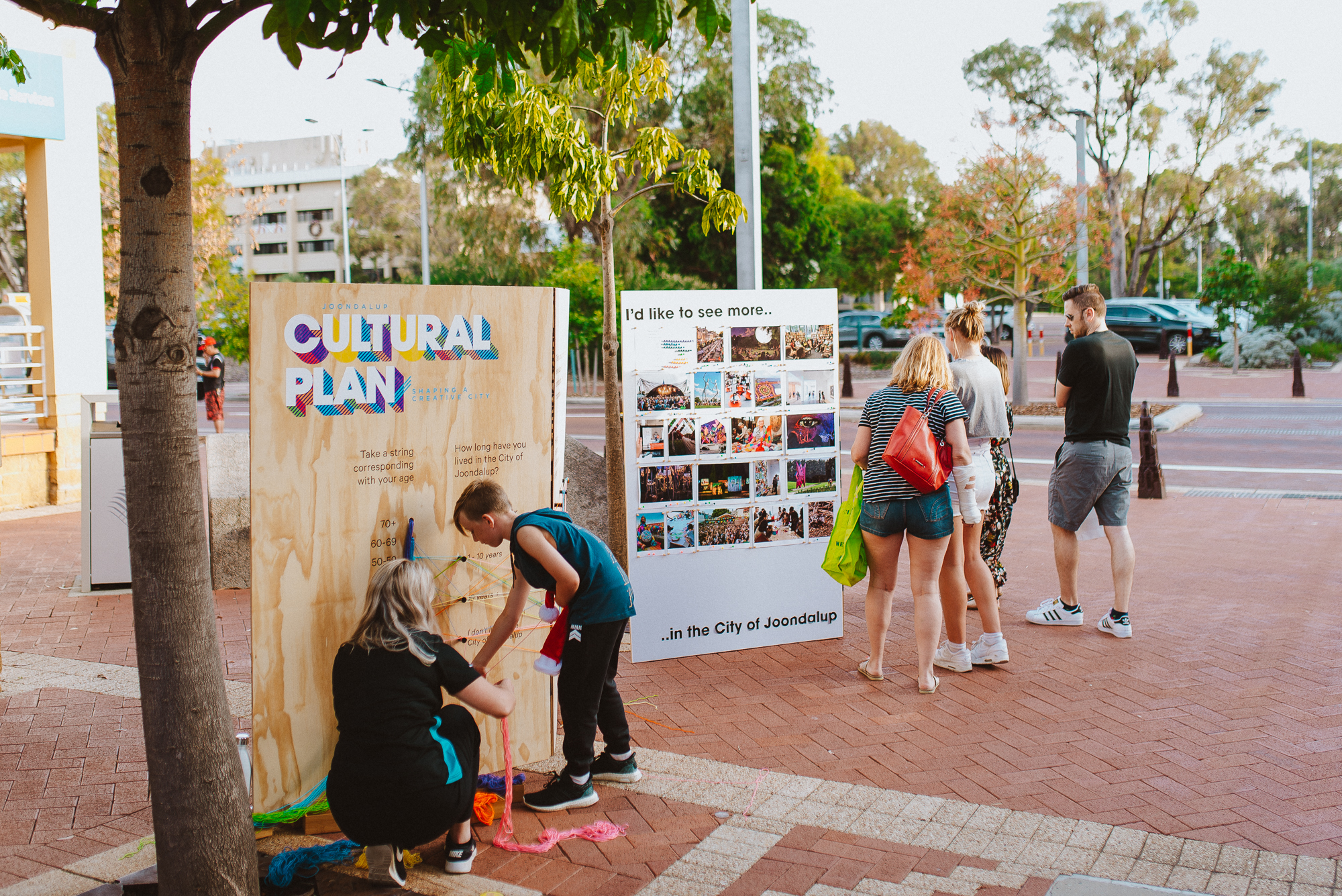 Community survey interactive activity at Joondalup