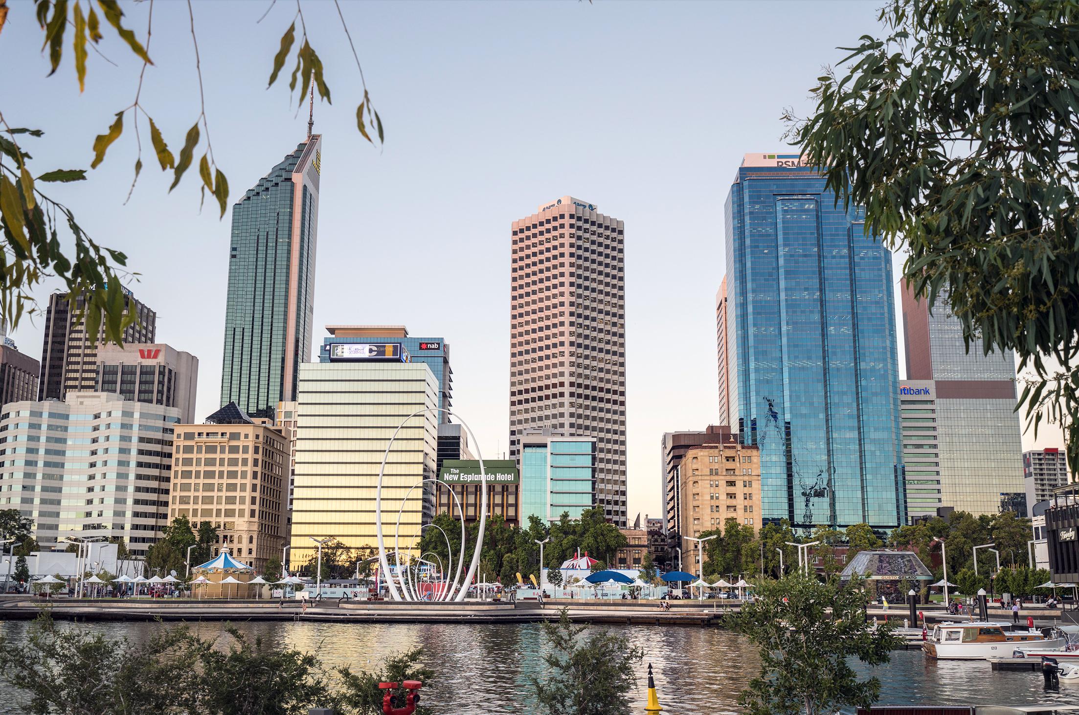 Perth Elizabeth Quay Skyline