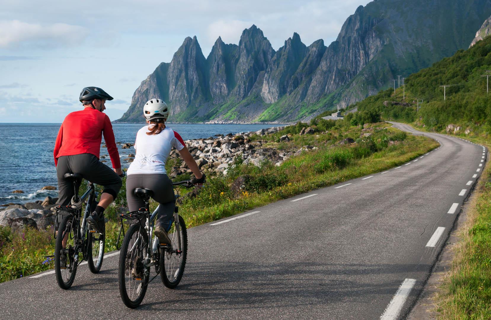 Senja på sykkel
