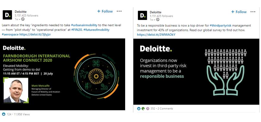 Deloitte demonstrates expertise on social with webinars and surveys