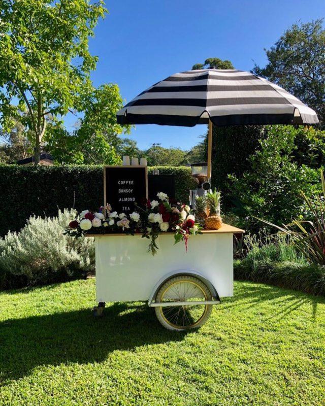 Woofys wedding coffee cart