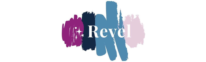 Revel Logo with Revel colors