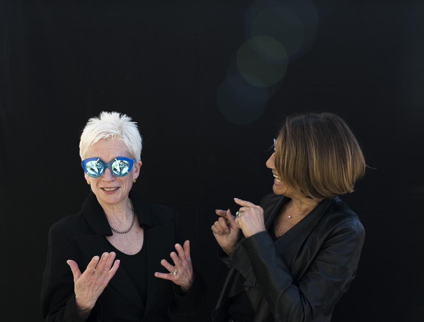 Karen and Erika in conversation