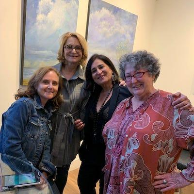 Ladies at an art gallery