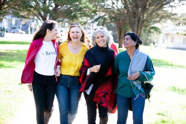 Ladies at an outdoor walk
