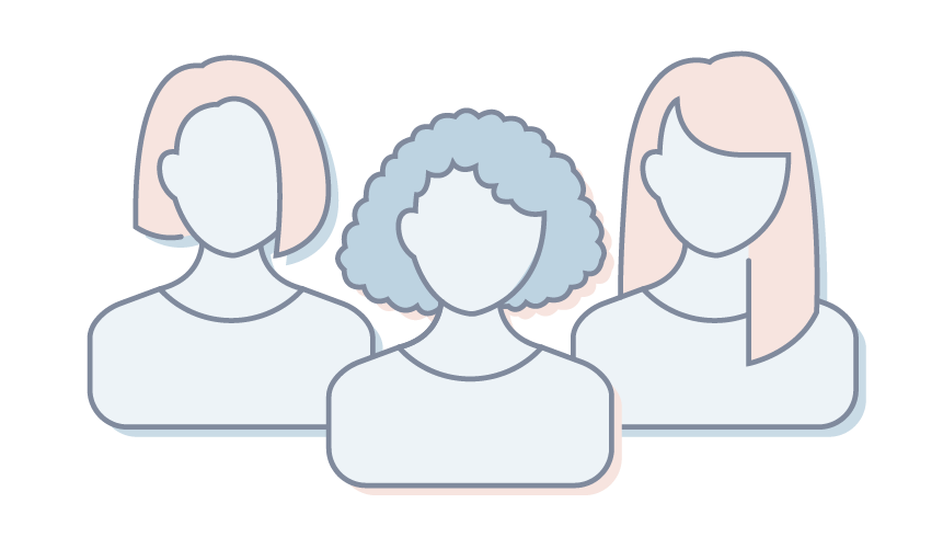 Graphic of a group of women