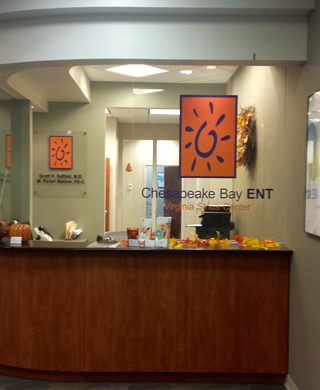 Chesapeake Bay ENT reception desk