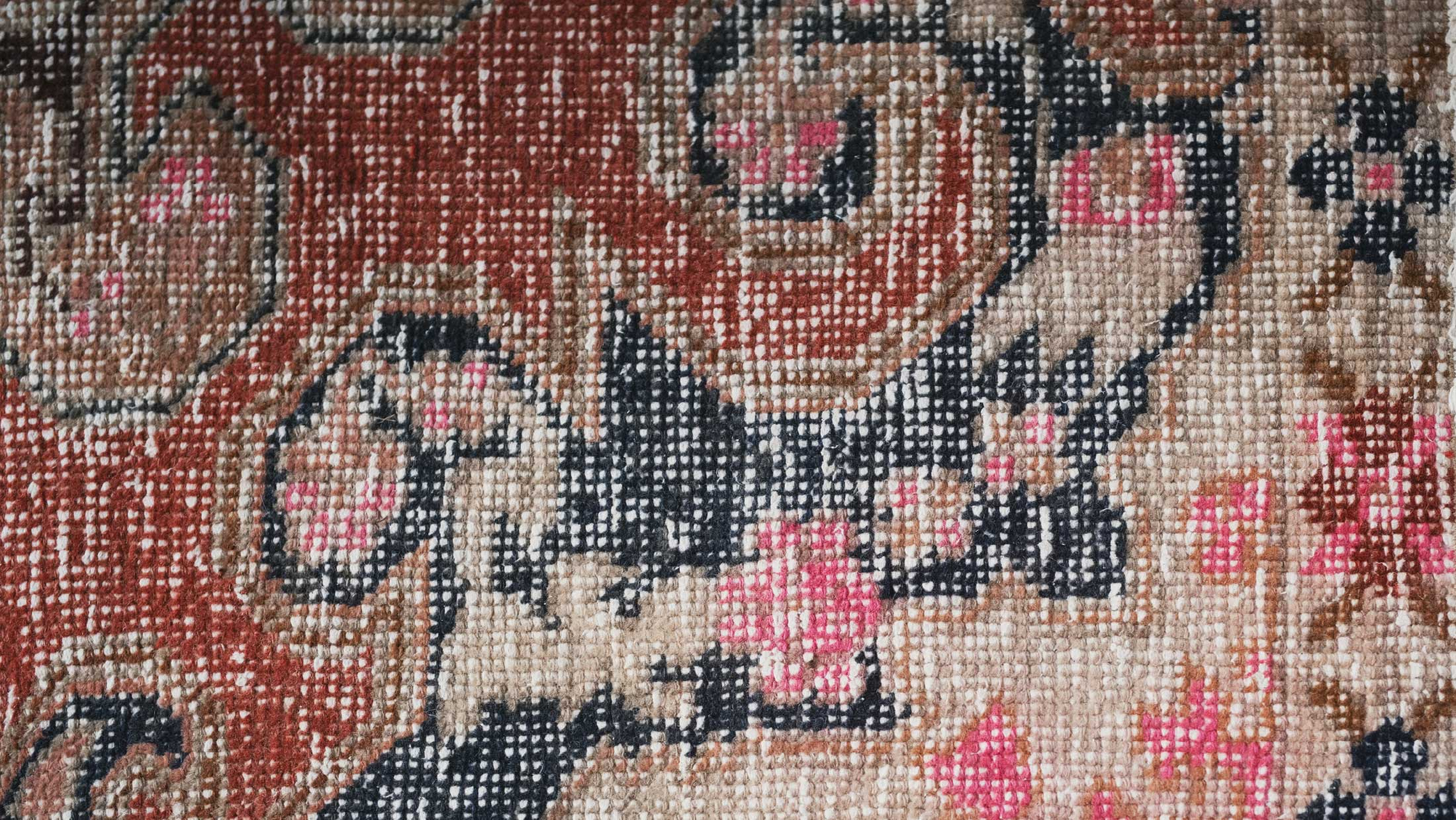 Close up photo of a rug texture