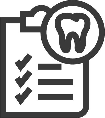 tooth with clipboard icon
