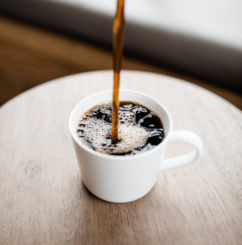 coffee poured