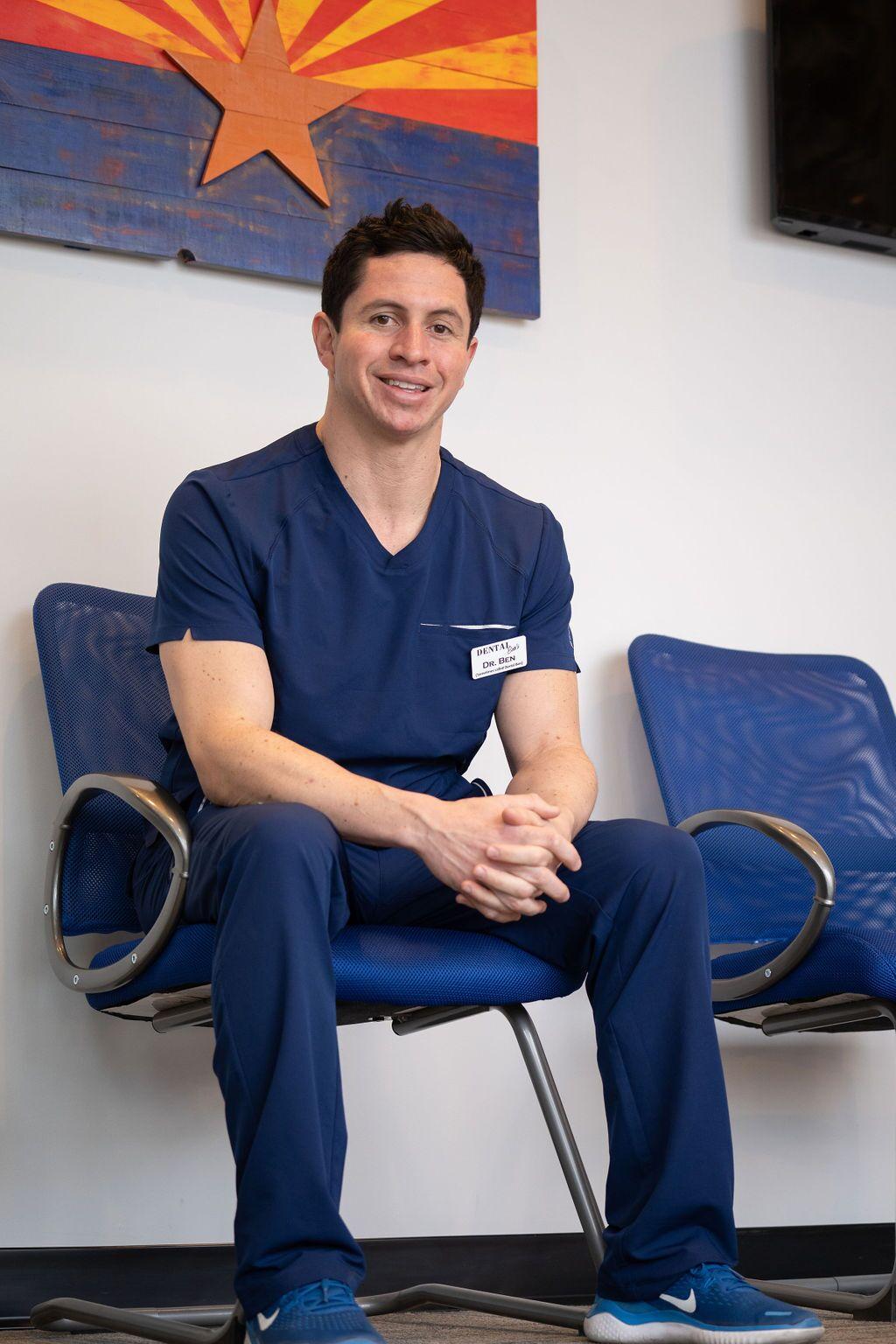 Dr. Ben Cooperman sitting down - Dentist in Peoria, AZ 85383