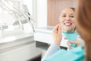 Patient in dental room