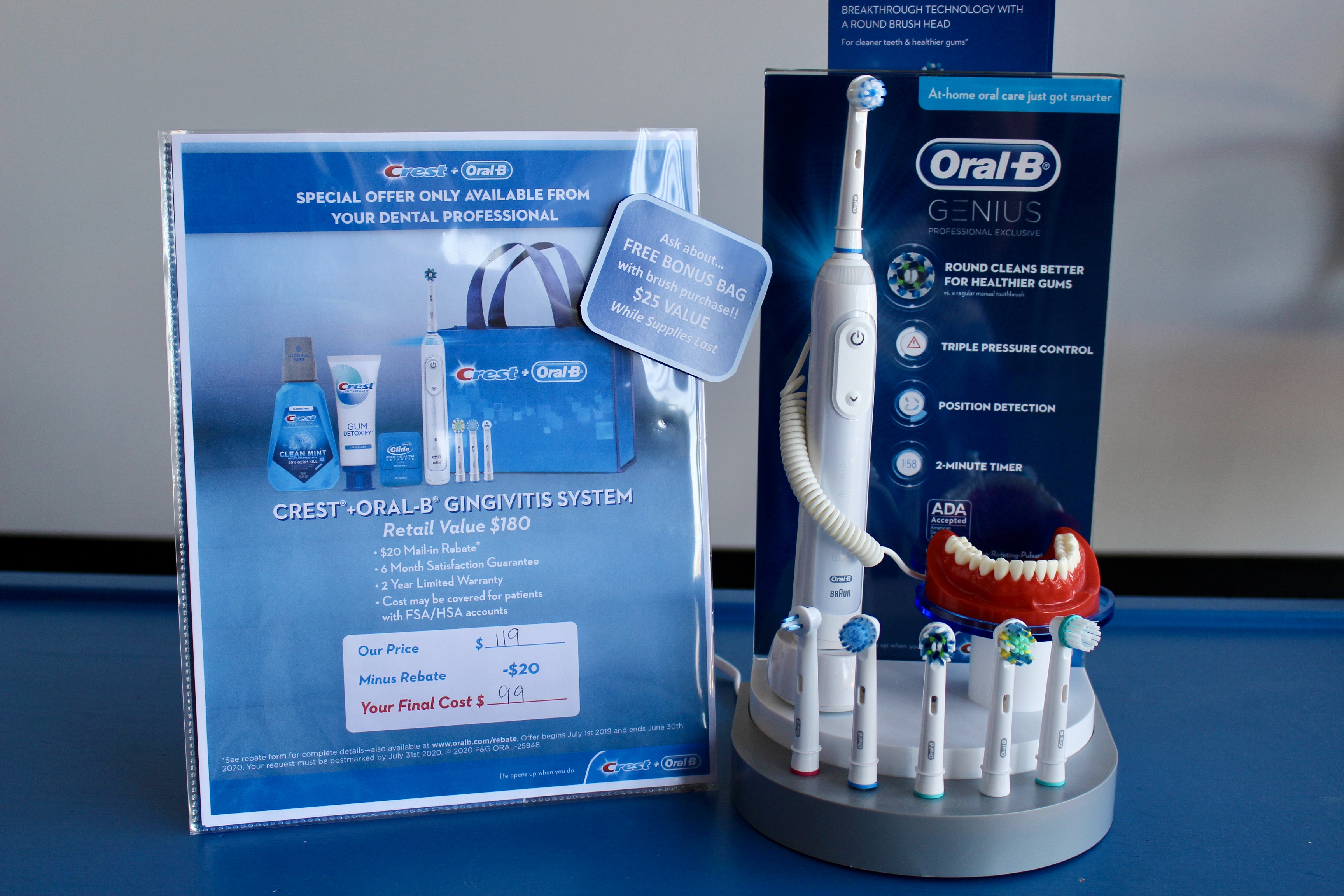 Crest oral health items