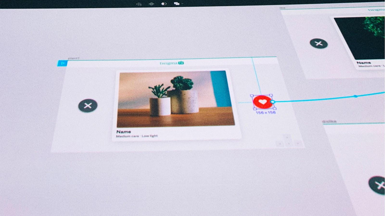 Display of Figma's prototyping skills.