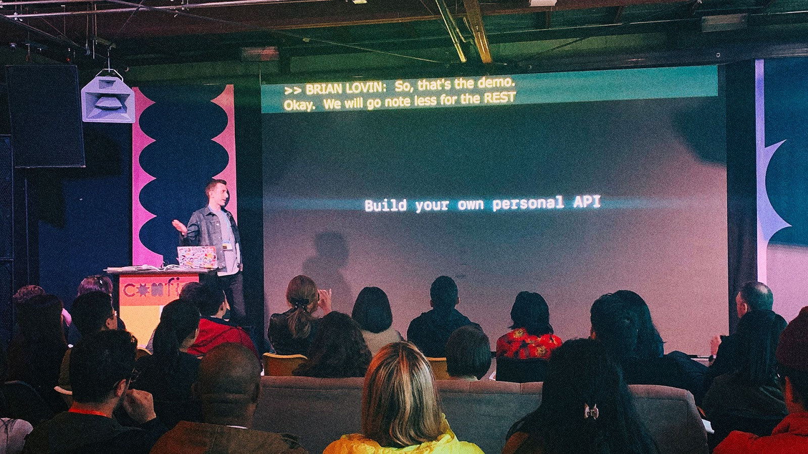 Brian Lovin presenting at Config.
