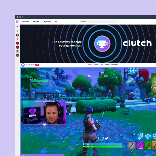 Clutch's Twitch streaming profile.