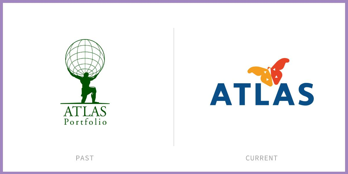 ATLAS logo before and after