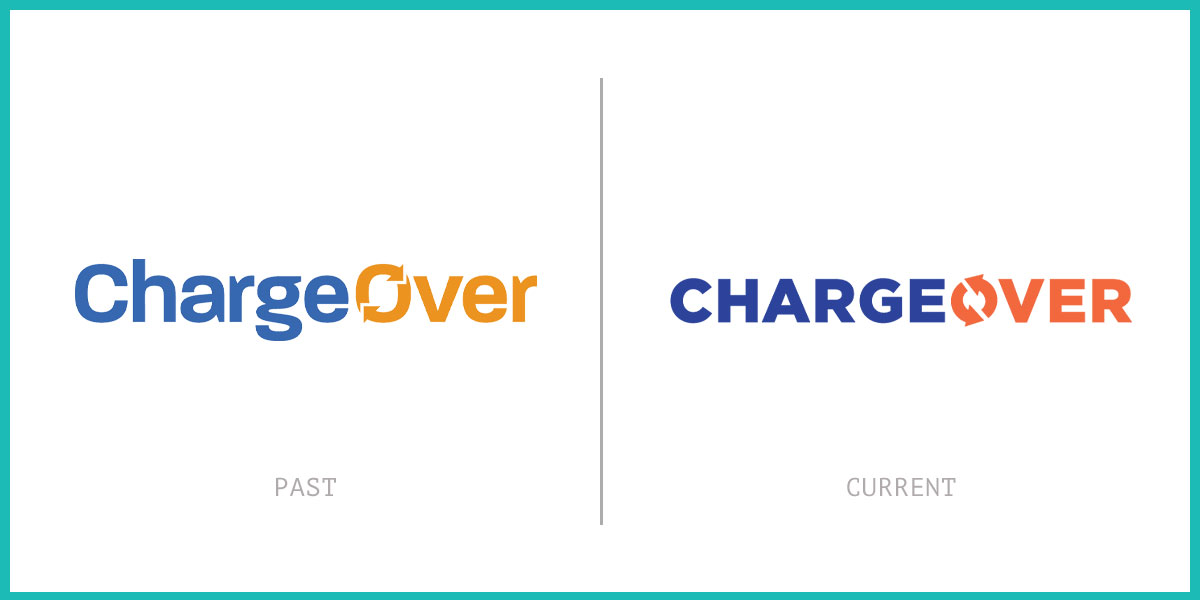 Chargeover logo before and after
