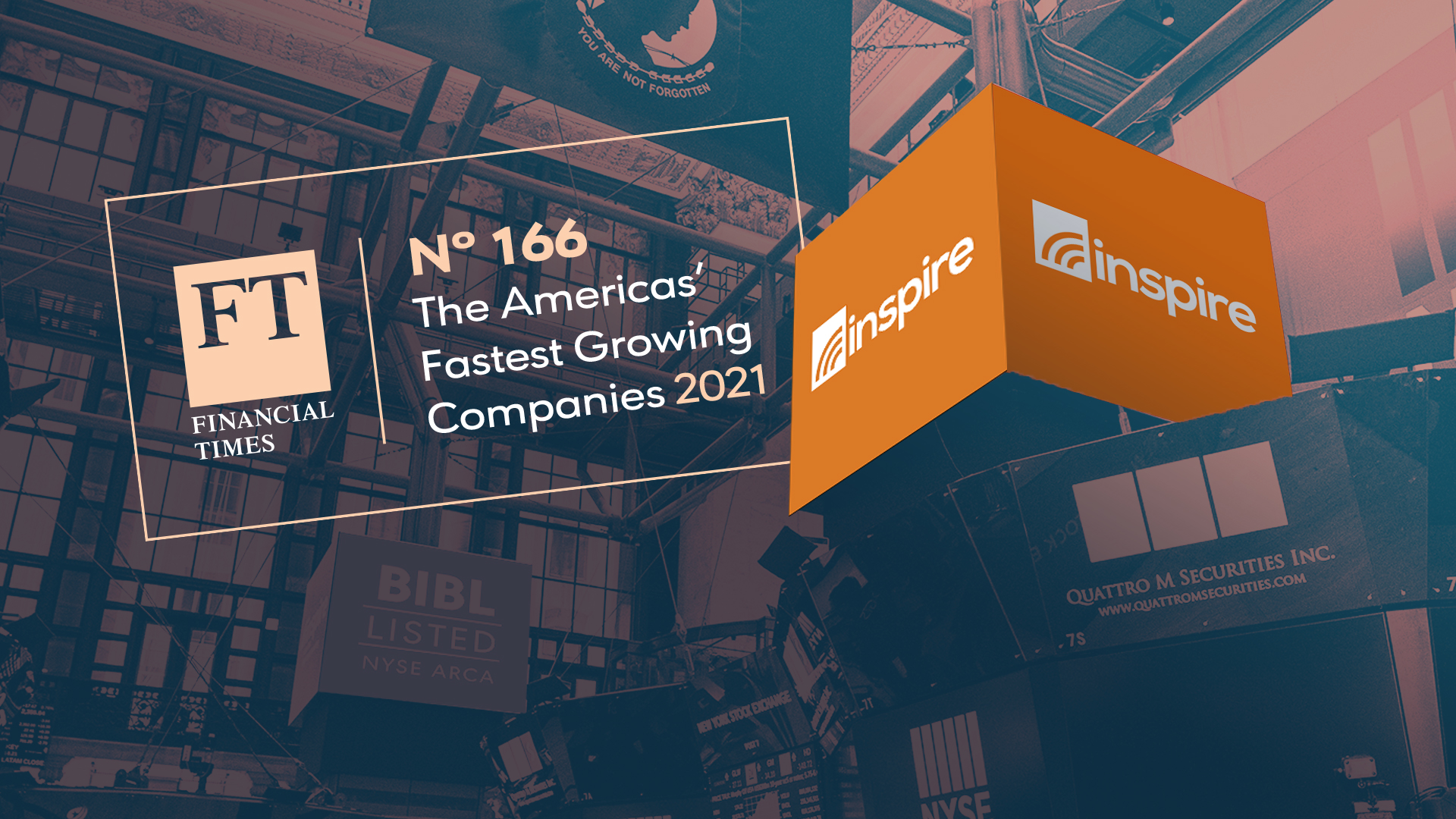 The Financial Times Ranks Inspire Investing Among Fastest Growing Companies in the Americas
