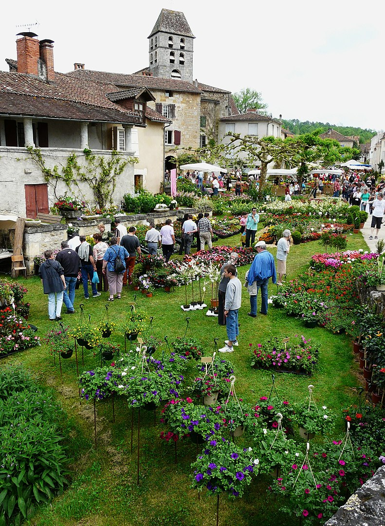 flower market St Jean de Cole