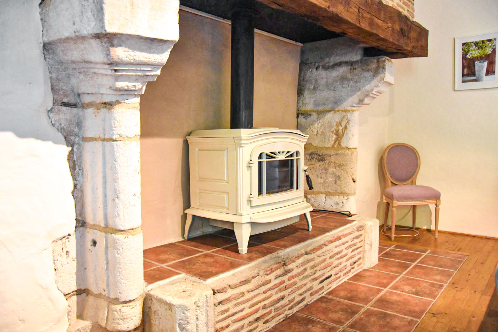 chimney and wood stove